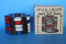 Retro 5 Tray Stack-A-Matic Poker Chip Racks By ARRCO Playing Card Co.