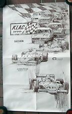 Late 1970's KLAC 570 The Racing Station 19 x 30 Poster  Foyt  Unser  California