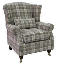Ashley Fireside High Back Wing Armchair Lana Beige Check Fabric