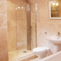 1850mm x 1000mm Wet Room Shower Screen Panel With 8mm Thick Safety Glass