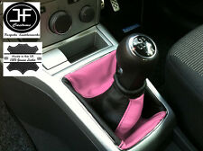BLACK PINK FITS OPEL VAUXHALL ASTRA H MK5 MKV STICK GEAR GAITER LEATHER