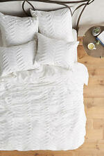 NEW Anthropologie White Pinturas Jersey Duvet KING Geometric