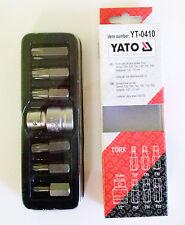 YATO YT-0410 TORX-SCHRAUBENDREHER SPITZEN SET 7 teile 1.3cm 10 mm T25 T30 T40