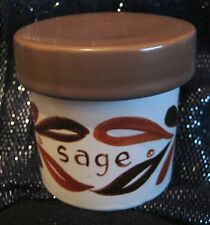 Poole pottery Storage container for Sage approx 3.25ins tall