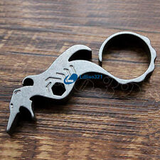TC4 Titanium EDC Handmade Keychain wrench Bottle opener Outdoor Survival Tools