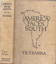 1939 FIRST EDITION AMERICA FACES SOUTH SOUTH AMERICA ILLUSTRATED MAPS GIFT IDEA