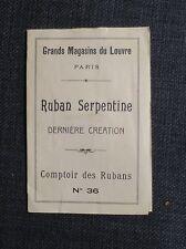 GRANDS MAGASINS DU LOUVRE PARIS publicité échantillons comptoir des rubans