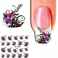 J414 NAGELSTICKER FReNCH STYLE Blumen Ranken Sticker Aufkleber Fingernagel Nagel