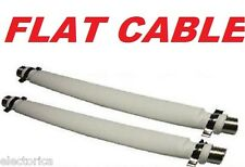 2 X FLAT COAXIAL COAX CABLE RG6 RG-6 Door Window HD TV