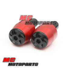 Red BeyBlade CNC Bar Ends For Yamaha T-Max Tmax 530 cc XP 2012 2013