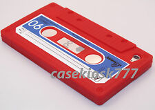 for iPod touch 4th 4 th 4 GEN itouch case cover cassette tape red soft silicone