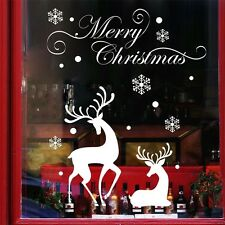 Window Home Christmas Decoration Wall Sticker Deer Bedroom Decal Fawn