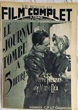 Film complet.  LE JOURNAL TOMBE A 5 HEURES.    1946