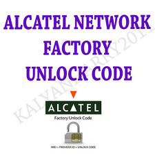 Alcatel Unlock Code  OneTouch S POP Network Unlocking Pin 4030X 4030A DL600