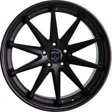 Rohana 19x8.5 /9.5 5x114 +35/40 Matte Black Rims Fits Nissan 300 350Z Is250 350