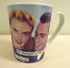 """ANNE TAINTOR COFFEE MUG SHE THOUGHT OF HIM FONDLY AS """"PLAN B"""" WOMENS HUMOR NEW"""