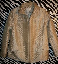 Gorgeous *NEW*~❤~ PLuS SiZe 1X  DIAMOND QUILTED ZiP JACKET BARN COAT XL 16