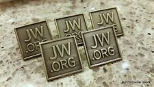 5 JW.org Professional Metal Lapel Pins - High Quality Antique Square Pins 3/4""