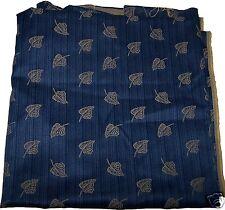 STOCK Scampolo Tessuto Blue Giallo Cretonne foglie Stoffa Arredo