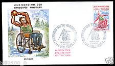 premier jour d'émission.Jeux mondiaux des handicapés physiques. St-Etienne.1970