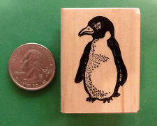 Baby Penguin, Wood Mounted Rubber Stamp