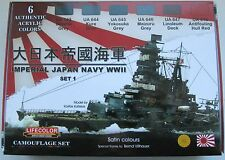 Lifecolor Acrylics LC-CS36 WW2 IJN (Japanese Navy) Warship  Paint set 1