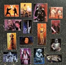 2007USA  #4143  41c  Star Wars - Set of 15 Singles - darth vador yoda skywalker