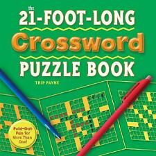 The 21-Foot-Long Crossword Puzzle Book: Fold-Out Fun for more than one  NEW!