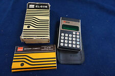 Vintage Sharp Compet EL-8116 electronic calculator in original box with case