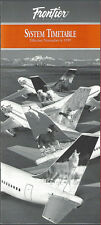 Frontier Airlines system timetable 11/4/99 [6061] (buy 4+ save 50%)