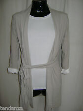 """NEW"" TRANSAT BOUTIQUE GILET ""SUSY MIX"" SOUPLE BEIGE TAILLE S/M= 36 A 40"