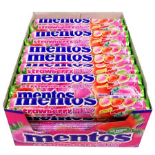FULL BOX 40 Units MENTOS Strawberry Mix Sweet & Sour Chewy Dragees Candy