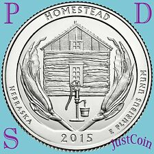 2015 PDS THREE QUARTERS SET HOMESTEAD NATIONAL MONUMENT (NEBRASKA) UNCIRCULATED