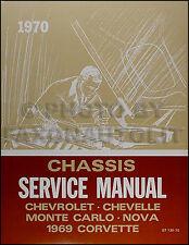 1970 Chevy Shop Manual Chevelle Monte Carlo El Camino Nova Chevrolet Repair Book
