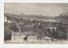 Lausanne Avenue du Theatre Vintage Postcard Switzerland 389a