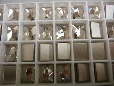 12 swarovski cosmic flatbacks,10x8mm silver shade/foiled #2520