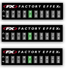 13-8443 Factory Effex Temperature Sticker 3 Pack MX ATV Motorcycle