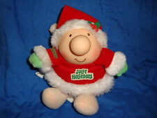 "Ziggy Jolly Hollydays Christmas Vintage Plush Doll 7"""