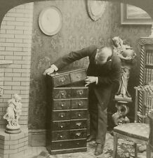 Underwood Stereoview of an Underwood Patent Extension Stereoview Cabinet 1901 #2