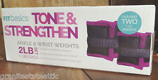 Fit Basics Ankle / Wrist Weights ~ 2 Lbs Set ~ Purple & Black ~ FREE SHIPPING!