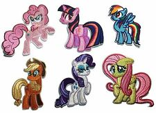 My Little Pony Dash & Friends Ponies Embroidered Iron On Patch Set of 6 Patches