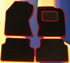 MINI FIRST /ONE / COOPER /COOPER S 06-14 BLACK CAR MATS + RED EDGING + VELCRO