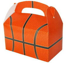 12 BASKETBALL  PARTY TREAT BOXES FAVORS GOODY BAG  PRIZE GIFT BASKET CARNIVAL