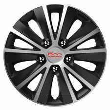"""ABS 16"""" Inch Rim Wheel Skin Cover Center 4 pc Set Caps Covers Brand 500 red Fiat"""