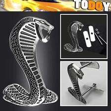 NEW!! Silver Cobra Snake Metal Logo Car Front Hood Grille Grill Badge Emblem