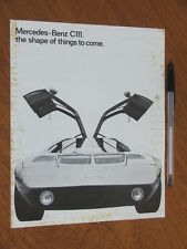 c1970 Mercedes Benz C111 Research car original Australian 4 page brochure
