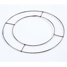 "20 X 8"" OASIS FLAT WIRE WREATH RINGS FRAMES COPPER CHRISTMAS HOLLY 95000"