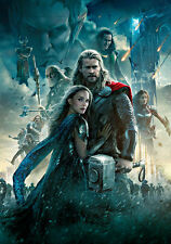 Thor The Dark World II A1 High Quality Canvas Art Print