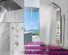 879 THERMOSTATIQUE Panneau colonne de douche ,ACIER INOXYDABLE , CASCADE NEUF !!