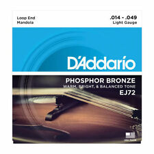 DADDARIO LIGHT PHOSPHOR BRONZE WOUND MANDOLA STRINGS 14-49 EJ72 STRING SET